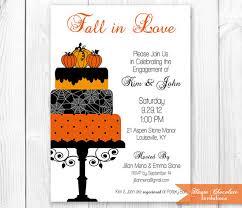 Halloween Wedding Shower Decorations by Fall Cake Bridal Shower Invitation Halloween Engagement Shower