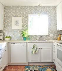glass tile for backsplash in kitchen tiling around a window centsational style
