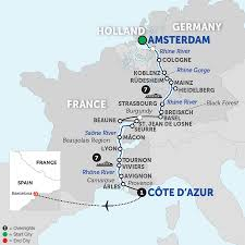 Provence France Map The River Rhone Facts About The River Rhine Rhone River Cruises