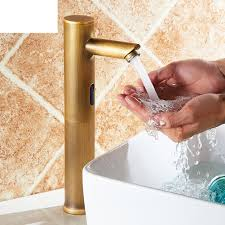 Antique Brass Bathroom Faucet by Dodona Antique Brass Finish Sensor Faucet