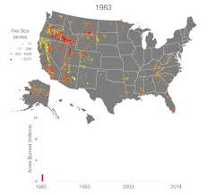 California Wildfire Fire Map by Animation Progression Of Wildfires In The United States Circle