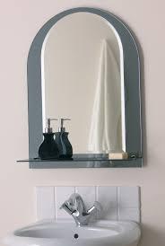 inspiring ideas bathroom mirror with shelf attached round useful