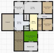 draw a floor plan free digital smart draw floor plan with smartdraw software housebeauty