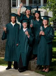 cap and gown for high school greenweaver graduation gowns made from plastic bottles by oak