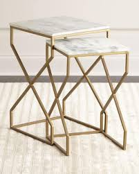 marble top nesting tables and marble nesting end tables