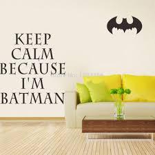 Diy Home Decor Wall Art Aliexpress Com Buy I U0027m Batman Keep Calm Wall Art Stickers For