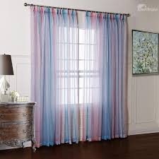 Sheer Pink Curtains Pretty Blue And Pink Transparent Yarn Custom Sheer Curtain Feel