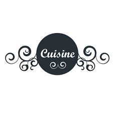 enseigne de cuisine stickers enseigne de cuisine style rétro adhésif déco disponible