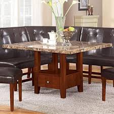 marble dining room set acme furniture bologna 48 square marble dining table with storage