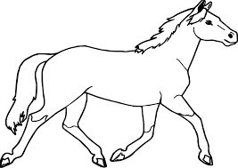 jogging arabian horse coloring page wecoloringpage