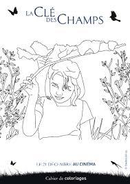 imprime le dessin à colorier de la clé des champs