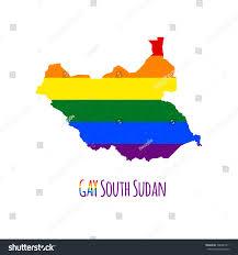 Map Of Sudan Vector Map South Sudan Lgbt Stock Vector 306485711