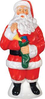 outdoor plastic lighted santa claus amazon com traditional santa 40 inch christmas decor garden
