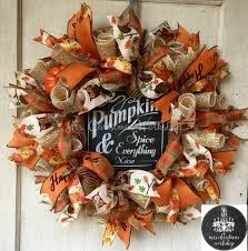 fall wreaths burlap wreath fall wreath deco mesh wreath pumpkin wreath
