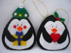 Felt Penguin Christmas Ornament Patterns - nordic felt christmas ornament pattern set digital download felt