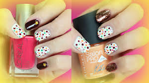 fall thanksgiving nail art easy and cute dotted nail art diy fall nails for teenagers youtube