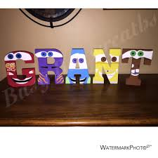 hand painted cars wooden letters kids room decor disney