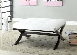 Black Velvet Tufted Bench Table Round White Tufted Ottoman Coffee Tables Bench Table Leather