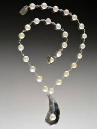 sterling silver pearls necklace images Grade aaa freshwater pearls with indonesian sterling shell and jpg