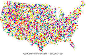 map of the united state us dotted map vector free vector stock graphics
