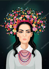 floral headdress woman with floral headdress stock vector maseanea36 103751710