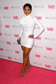 toni braxton short hair toni braxton white tight dress long