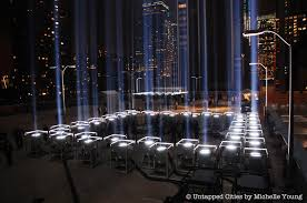 9 11 Memorial Lights Tribute In Light Illumination At The World Trade Center Behind