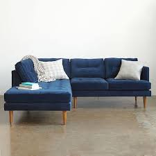 Blue Sectional Sofa With Chaise by Peggy Mid Century Terminal Chaise Sectional Home Pinterest