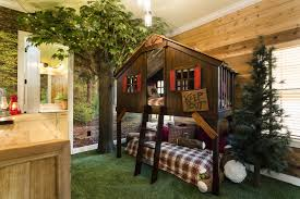 epic treehouse bedroom with additional furniture home design ideas