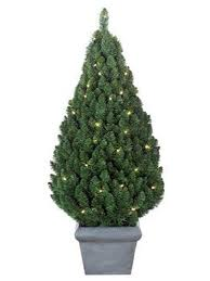 tree s potted pear pre lit outdoor 3ft tree