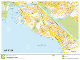 map of waikiki waikiki map stock vector image 48299951