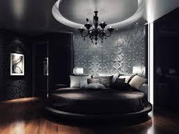 Bed Wallpaper Contemporary 3d Wallpaper In Circular Bed Shape In Master Bedroom