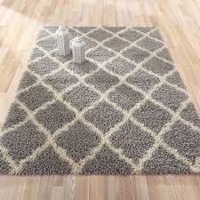 ottomanson ultimate shaggy contemporary moroccan trellis design