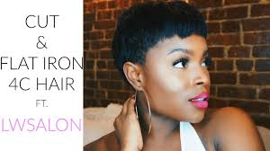 cut u0026 flat iron 4c hair ft lw salon youtube