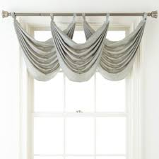 Tab Top Valance Liz Claiborne Giselle One Tab Top Waterfall Valance 25inx37in