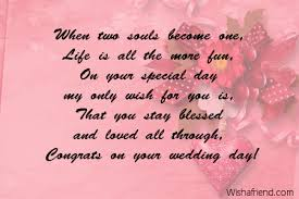wedding messages to when two souls become one wedding message