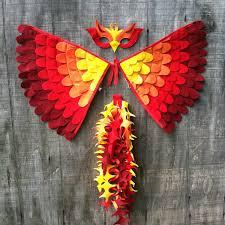 Phoenix Halloween Costume Magische Phoenix Kostüm Flügel Schwanz Und Von Treeandvine Auf