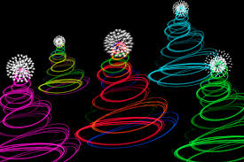 photo of abstract tree lights free images