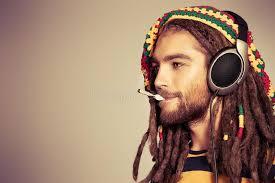 male rasta hairstyle music smoke stock image image of male hairstyle headphones