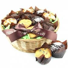 muffin basket delivery 18 assorted muffins basket delivery to uk send 18 muffins gifts by