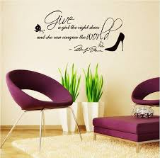 Girls Bedroom Wall Quotes New Arrival Give A The High Shoes Quote Wall Sticker Letter