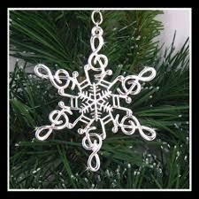 Musical Note Ornaments Pewter Note Snowwondersâ Snowflake Ornament Pendant