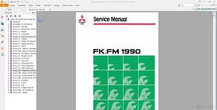 mitsubishi fuso 1990 1991 fk fm service manual auto repair
