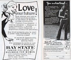 stewardess or secretary career ads for women in 1960s and 70s