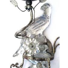 Bird Sconce An Elegant Pair Of French Mid Century Maison Baguès Silver Leafed