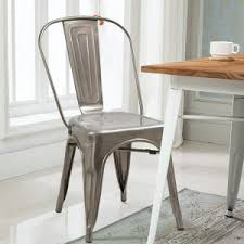 Tolix Dining Chairs Furniture Tolix Chair With Metal Bistro Chairs Also Industrial