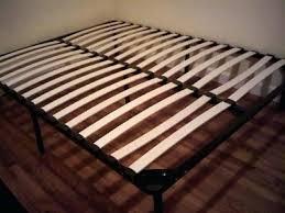 Metal Bed Frame With Wooden Slats Metal Bed Frame Slats Hoodsie Co