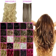 Hair Extension Clips by One Piece Clip In Hair Extensions Curly Wavy Straight All Colours