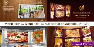 videohive favorite restaurant display free after effects