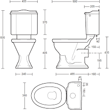 size of toilet te aq imperial drift close coupled toilet pan and cistern for